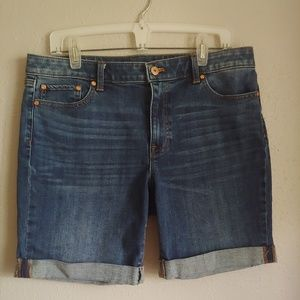 Talbots Girlfriend Cut Off Denim Jean Shorts